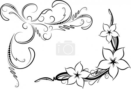 Illustration for Pair of decorative corners - Royalty Free Image