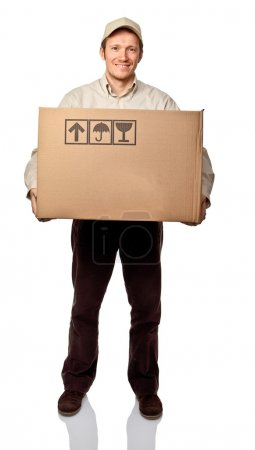 Man with box
