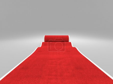Photo for 3d image of classic red carpet - Royalty Free Image