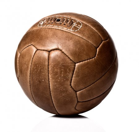 Photo for Image of retro leather soccer ball - Royalty Free Image