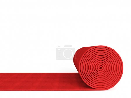Photo for 3d red carpet on white background - Royalty Free Image