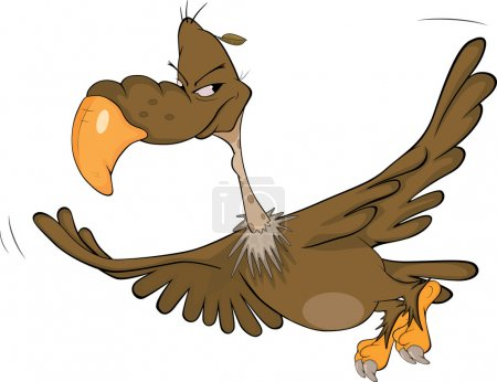 American condor. Cartoon