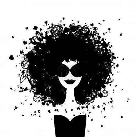 Illustration pour Mode portrait de femme pour votre design - image libre de droit