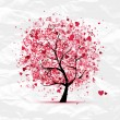 Valentine tree with hearts for your design...