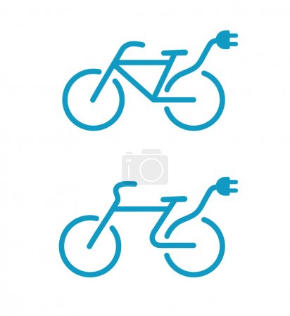 Electric bicycle icons