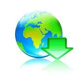 Globální download koncept