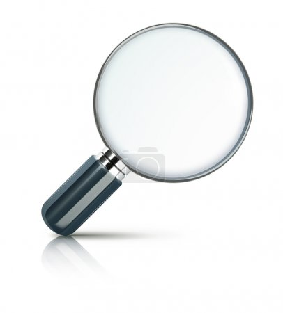 Photo for Illustration of magnifying glass isolated on white background. - Royalty Free Image