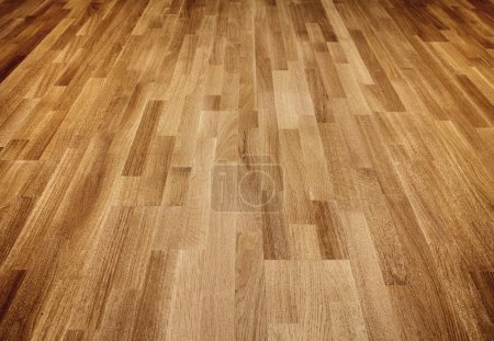 Photo for New oak parquet of brown color - Royalty Free Image