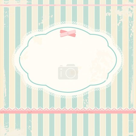 Illustration for Vector background in shabby chic style - Royalty Free Image