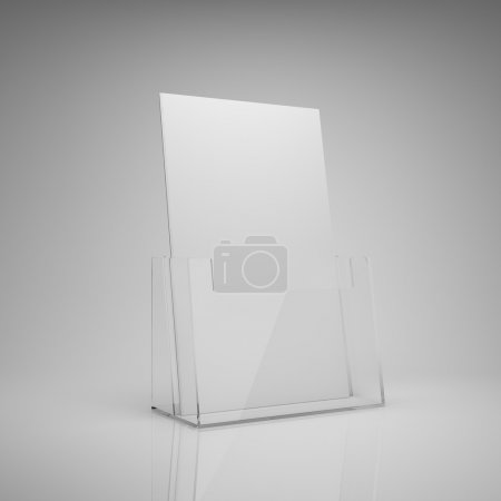 Photo for Blank brochure glass holder - Royalty Free Image