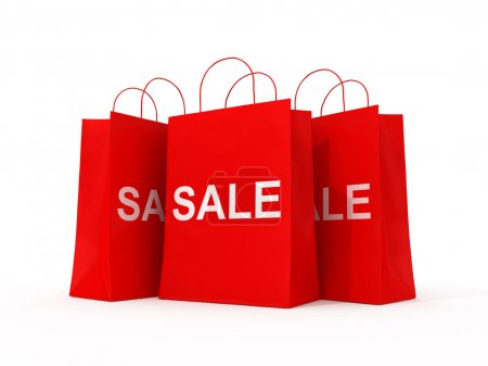 Shopping red bags