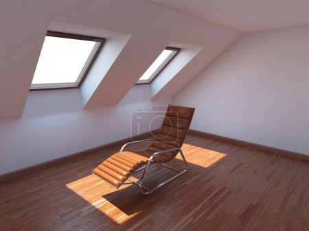 Photo for Empty new room with armchair - Royalty Free Image
