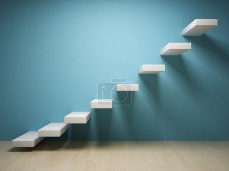 Photo pour Escaliers abstraits à l'intérieur - image libre de droit