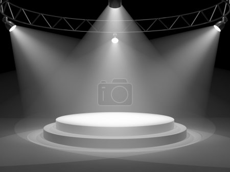 Photo for Empty stage in spot lights - Royalty Free Image