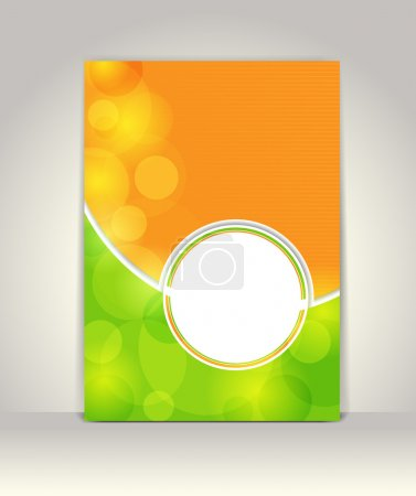 Illustration pour Modèle de brochure de métier, dessin coloré abstrait - image libre de droit