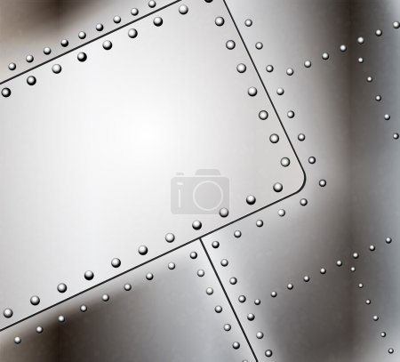 Illustration for Vector riveted metal background - Royalty Free Image