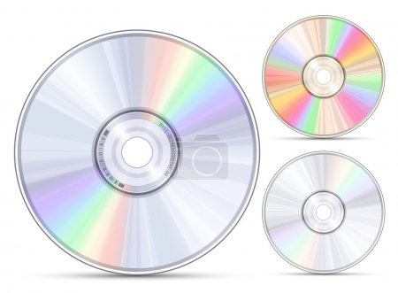 Blue-ray, DVD or CD disc. Vector illustration...