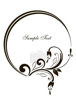 Illustration for Small decorative element for design - vintage frame - Royalty Free Image