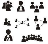 Set of human figures Social concept