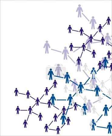 Illustration pour Chiffres humains.Concept social. Illustration vectorielle . - image libre de droit