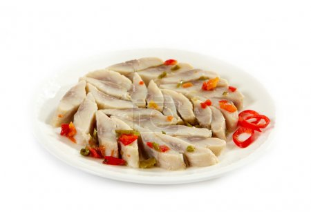 Photo for Marinated herring with paprika - Royalty Free Image