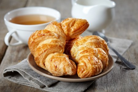 Photo for Fresh baked croissants - Royalty Free Image