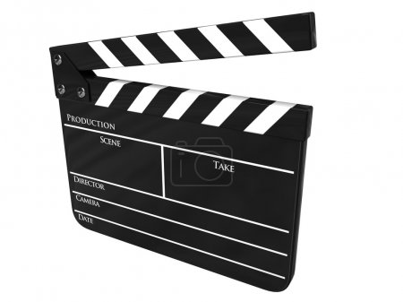 Clapboard isolated