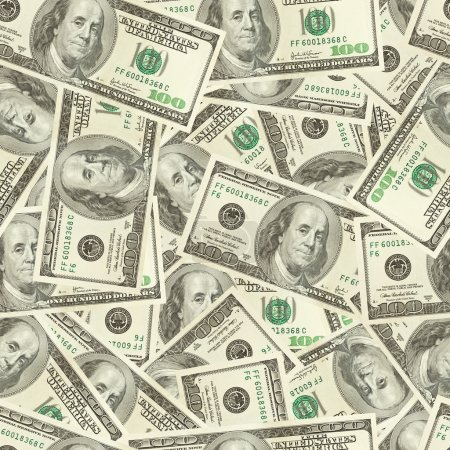 Photo for Dollars money seamless background - Royalty Free Image