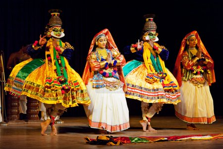 Kathakali dance. Bhava Bhavanam Festival. September 2009. Chenna