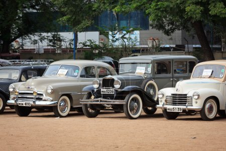 CHENNAI - INDIA - JULY 24: Vauxhall Velox 1951, Dodge 1931 and