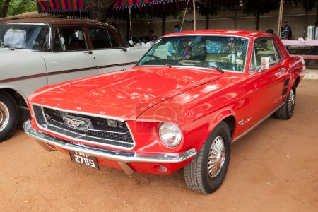 CHENNAI - INDIA - JULY 24: Ford Mustang (retro vintage car) on H