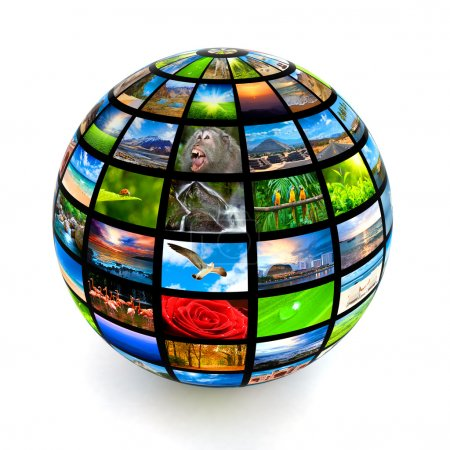 Photo for Picture globe isolated - Royalty Free Image