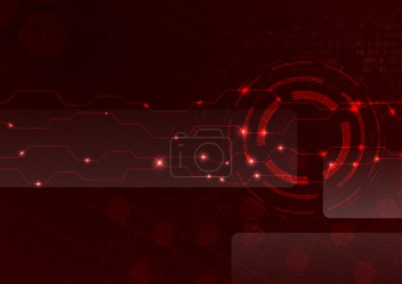 Technology red cell background