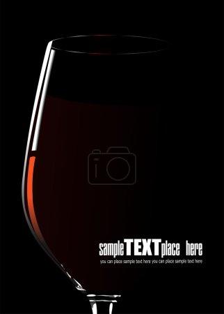 Illustration pour Un verre de vin rouge. Illustration vectorielle sur fond blanc - image libre de droit