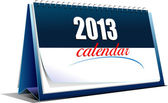 Vector illustration of desk calendar 2013 year