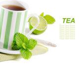 čaj v poháru