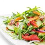 Fresh salad isolated on white...