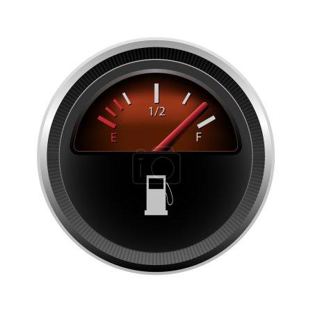 Illustration pour Niveau de carburant vectoriel - image libre de droit