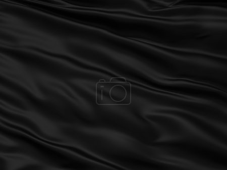 Wavy black textile background