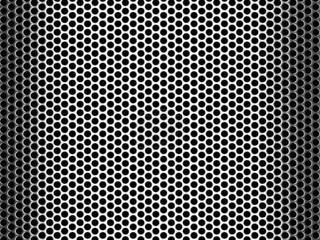 Pierced Metal Grid Background