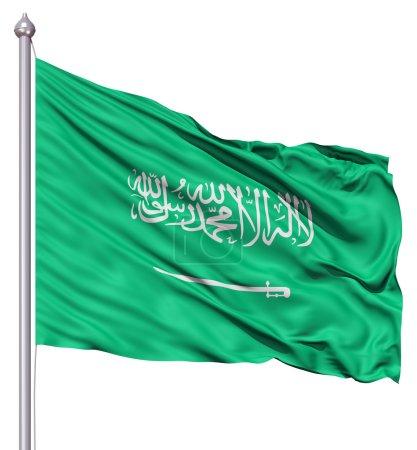 Waving Flag of Saudi Arabia