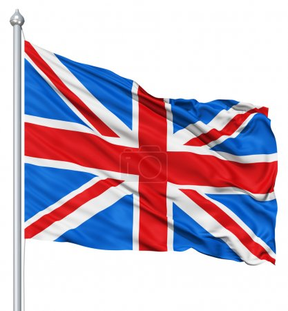 Photo pour Drapeau national UK ondulant dans le vent - image libre de droit