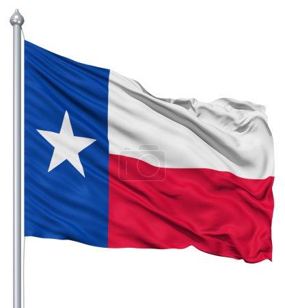 Photo pour Drapeau national du Texas agitant le vent - image libre de droit