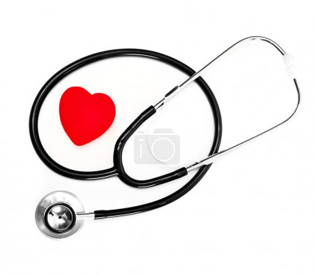 Stethoscope and a red heart