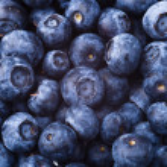 Many fresh blueberries. food background...