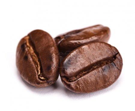 Photo for Roasted coffee beans isolated on white background. with shadow - Royalty Free Image