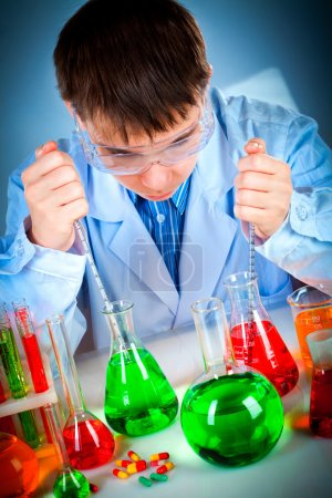 Photo for Student working in the lab - Royalty Free Image