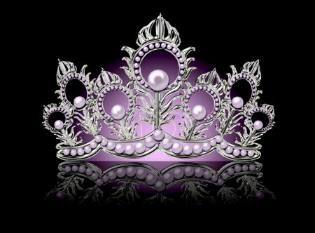 Crown with pink pearls