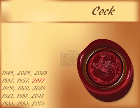 Year of cock - background