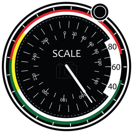Illustration pour Pointeur d'échelle au contrôleur. illustration vectorielle. - image libre de droit
